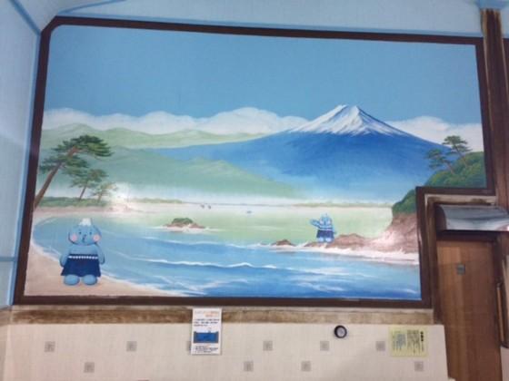 2015年、第二寿湯(江戸川区)に田中さんが描いた銭湯絵