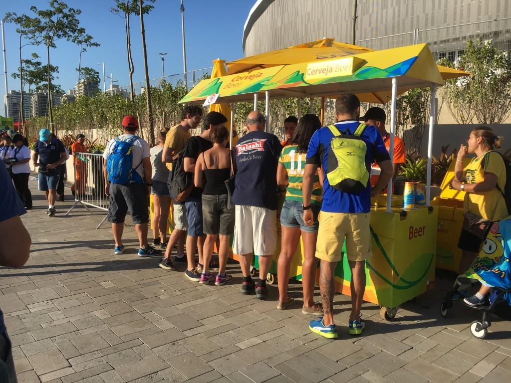 オリンピックパークのビールスタンド