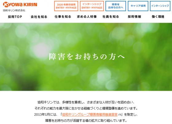 出典:採用情報サイト|協和キリン株式会社